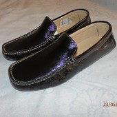 Мужские кожаные туфли-мокасины
