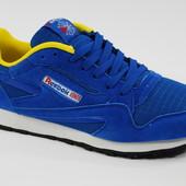 Синие кроссовки Reebok классик мужские