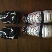 Защита, профессиональная для хоккея!! Перчатки Reebok!