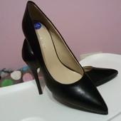 Туфельки-Лодочки кожаные Nine West 36 размер, 22-22,5 см стелька