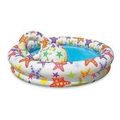 Детский надувной бассейн Intex с мячом и кругом 122х25