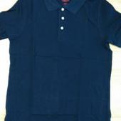 Поло футболка синяя размер М 48/50