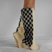 Высокие махровые сапожки - ножки в тепле