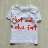 Белоснежная футболочка для маленького модника. Babibu. Размер 6 месяцев. Состояние: новой вещи
