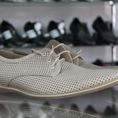Новинка!!! Летние туфли Мужские натуральная кожа Код: Л-11и Л-06