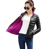 женская куртка теплая ХИТ 2 в 1  пуховик женский термо пух пальто парка дубленка монклер сникерсы