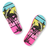 Girls Palm Tree Flip Flop р.5-6