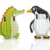 Пляжный надувной одноместный матрас животные Intex 58151 Крокодил и Пингвин