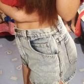 Шорты джинс высокие р-42 бу