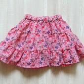 Яркая юбка для девочки. Внутри на подкладке. Умеренно-пышная. Matalan. Размер 1.5-2 года