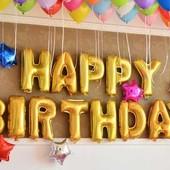 Шары фольгированные Happy Birthday