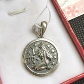 Новый красивый серебряный подвес дева чернение Серебро 925 пробы