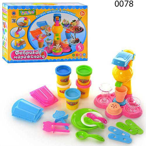 Тесто для лепки 0078 0694 фабрика мороженого набор волшебный пластилин play doh плей фото №1