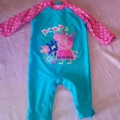 детский бодик для купания M&Co peppa pig 9-12мес