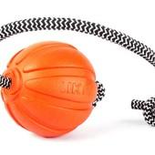 Мячик Лайкер Корд на шнуре, диаметр 9 см. Игрушка для мотивации собак