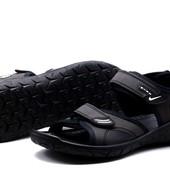 Сандалии Nike, р. 40-45, черный, синий, код kv-2824