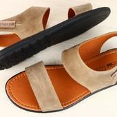 Мужские летние сандали из нубука