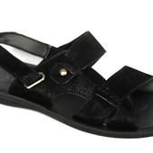 40 р Мужские сандалии 2в1 эко-нубук черные (РУ-4-нубук)