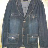 куртка- пиджак джинсовая большого размера
