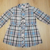 Фирменная рубашка-туничка хлопок р. от 70,80,86см