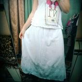 Крутая длинная юбка с натурал.хлопка  размер универсал от S до XL