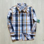 Новая стильная рубашка для мальчика. Рукав можно сделать коротким. Matalan. Размер 3-4 года