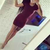 Платье-мини с коротким рукавом реал фото