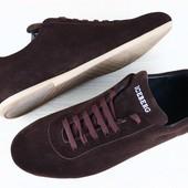 Туфли мужские коричневые замшевые
