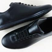Туфли мужские черные кожаные