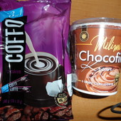 Лот:набор: 2упак. кофе в стиках и 1бан.шоколада на выбор.