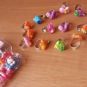 Детские кольцо, заколки, заколочки, колечко для девочки, бижутерия, колечки, украшения