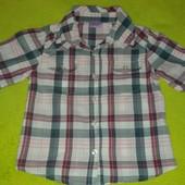 Рубашка- клетка FF на 2-3 года в отличном состоянии