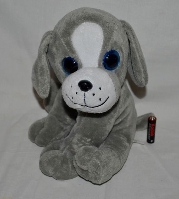 Большой мягкий плюшевой глазастик собачка щенок фото №1