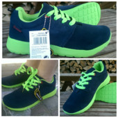 Кроссовки Restime Navy-Green rush run, 39, 40 и 41рр
