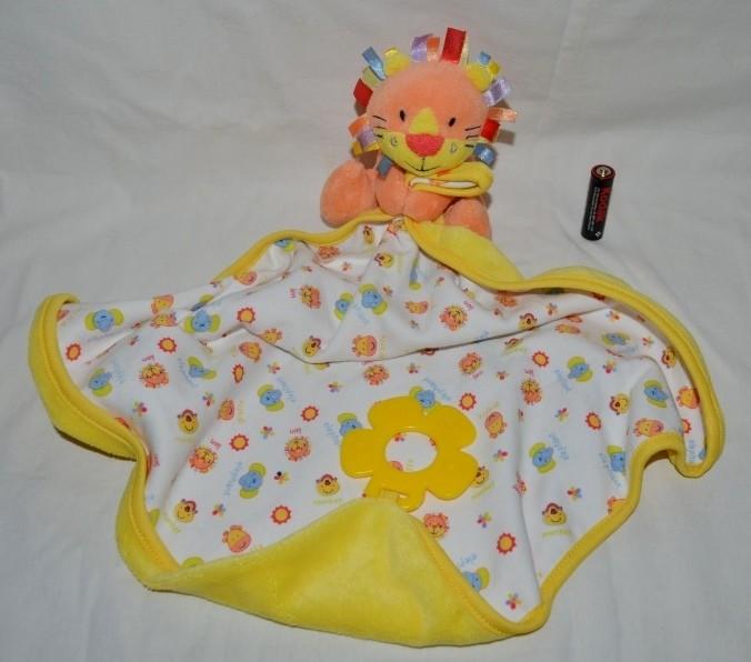 Фирменный впитывающий платочек полотененичко с развивалками львенок mothercare мазекеа фото №1