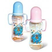 Бутылочка пластиковая с ручками 250 мл фото №1