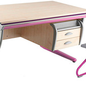 Гарантия! Доставка!! Парта Дэми +тумба навесная+ стул, клен розовый (Д-20031041)