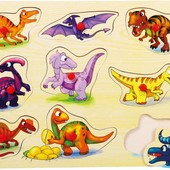 Вкладыши «Динозавры», Bino Артикул: 88099