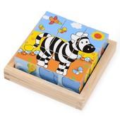 Набор кубиков «Зебра», Lelin Артикул: 22-025