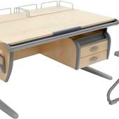 Комплект мебели - Дэми, парта + стул+ тумба навесная и 3 полки, клен серый (Д-20031031)