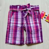 Новые яркие шорты с поясом для девочки. Pink House. Размер 4 года