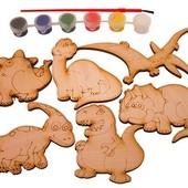 Набор раскрасок с магнитами «Динозаврики», Зірка Артикул: 75436