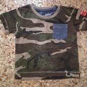 Крутая футболка Rebel 12-18мес