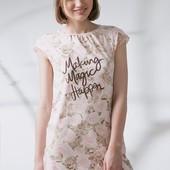 Ночная рубашка с розами s,m,l тм ellen.