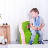 Бескаркасное детские кресло игрушка
