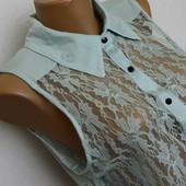 Ажурная рубашка Atmosphere мятного цвета. Блузка, блуза, кружевная, кружево,летняя, без рукавов