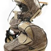 Дождевик для коляски качественный силиконовый на коляску Польша!
