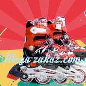 Ролики раздвижные с алюминиевой рамой Swift, красный: 31-35, 34-38 размер, мягкие PU колеса