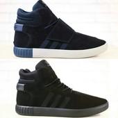 Кроссовки Adidas, высокие, р. 40, замша код nvk-2754