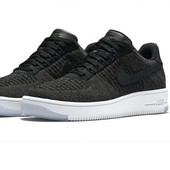 Кроссовки Nike Air Force 1 Ultra Flyknit low black, р. 36,37,38,40,41,42,43,44 код fr-1450